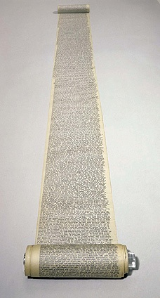 Jack Kerouac's scroll manuscript of On the Road.